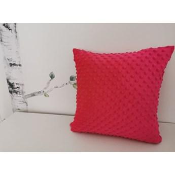 Poszewka na poduszkę MINKY kolor ciemny róż/amarantowy 40x40