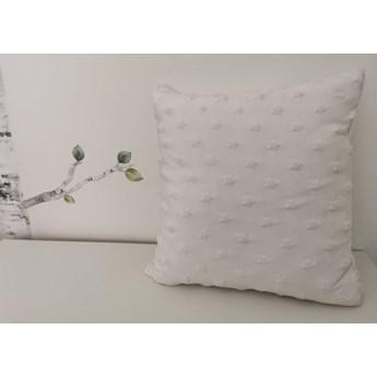 Poszewka na poduszkę MINKY gwiazdki kolor biały 40x40