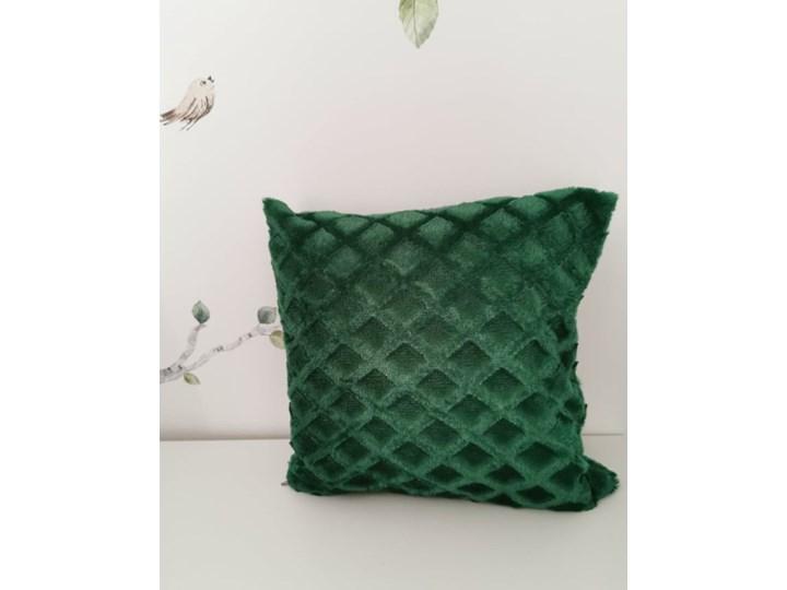 Poszewka na poduszke pluszowa romb ciemno zielona 40x40 Zasłona zaciemniająca Poliester 140x240 cm Kolor Zielony