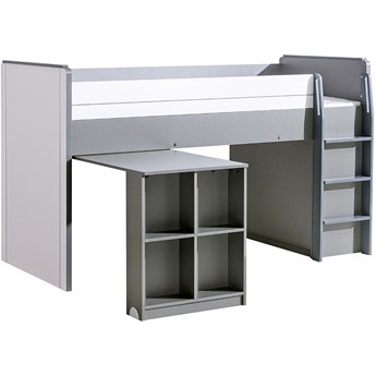 GM15 Łóżko piętrowe z biurkiem COMI popiel + biały