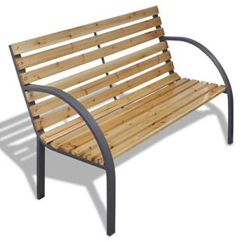 Ławka ogrodowa, 120 cm, drewno i żelazo