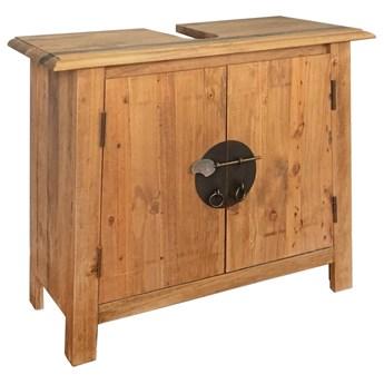 Szafka łazienkowa pod umywalkę, drewno sosnowe, 70x32x63 cm