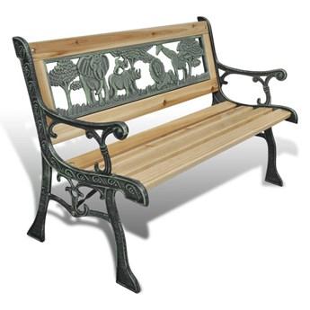 Ławka ogrodowa dla dzieci, 84 cm, drewniana