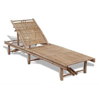 Leżak plażowy, bambusowy