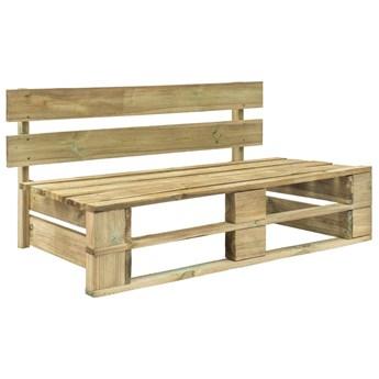 Ogrodowa ławka z palet, drewno