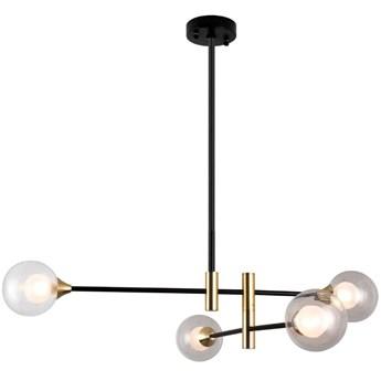 LAMPA sufitowa MARINO PND-9148-4 Italux metalowa OPRAWA loftowe pręty kule balls molekuły czarne mosiądz