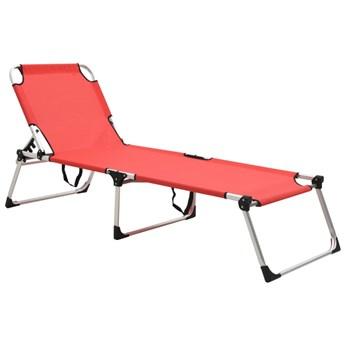 Czerwony lekki leżak ogrodowy - Sollero