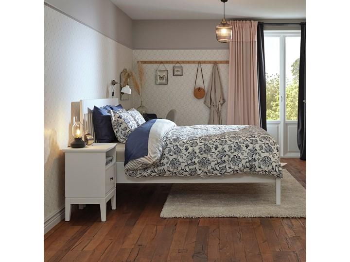 IKEA IDANÄS Rama łóżka, Biały, 140x200 cm Łóżko drewniane Zagłówek Z zagłówkiem