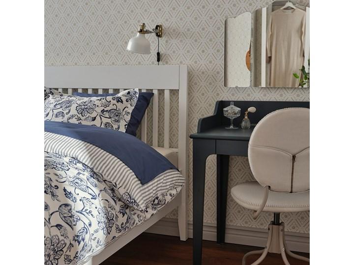 IKEA IDANÄS Rama łóżka, Biały, 140x200 cm Łóżko drewniane Styl Klasyczny