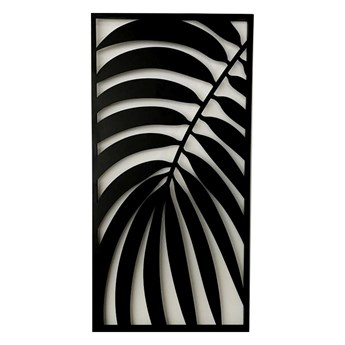"""Metalowy ażurowy obraz liście """"II"""" 40 x 80 cm"""