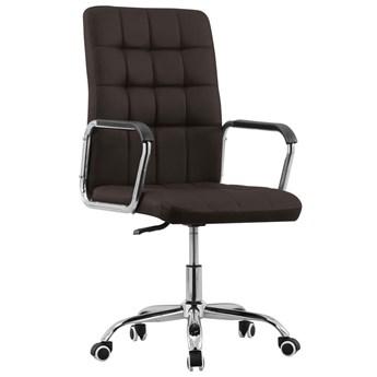 Brązowy tapicerowany fotel biurowy - Gabris