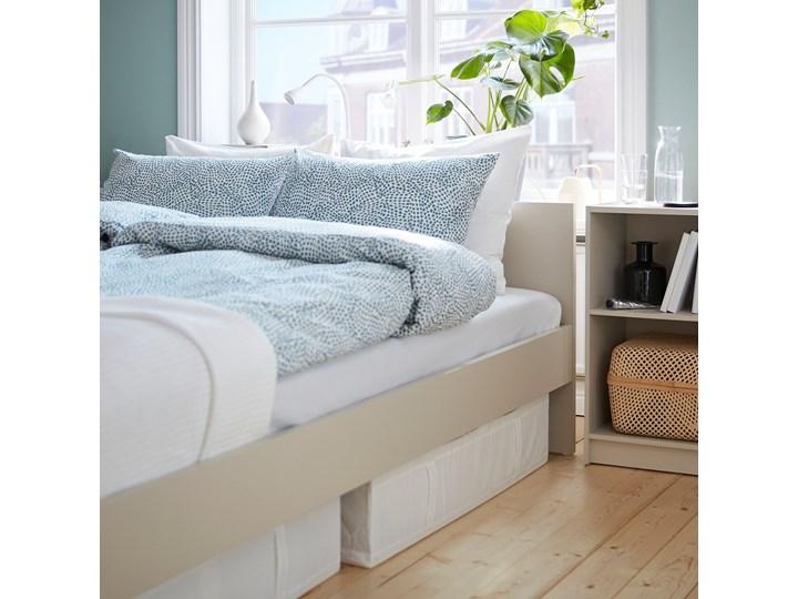 IKEA GURSKEN Rama łóżka, zagłówek, jasnobeżowy/Luröy, 140x200 cm Łóżko drewniane Pojemnik na pościel Bez pojemnika Kategoria Łóżka do sypialni