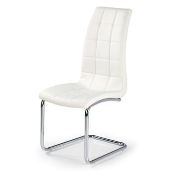 SELSEY Krzesło tapicerowane Svilaj białe