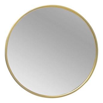 Lustro okrągłe w złotej metalowej ramie 60 cm