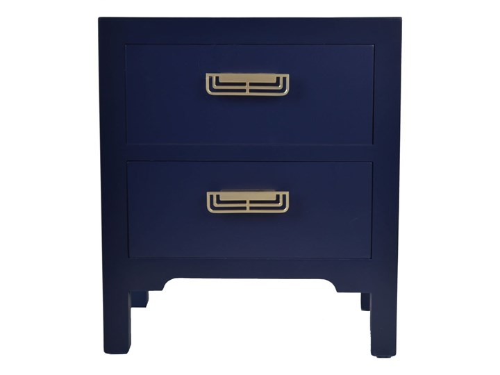 Szafka z dwoma szufladami ciemny niebieski 45x30x52cm Kolor Granatowy Płyta laminowana Uniwersalne Płyta MDF Typ Nocne