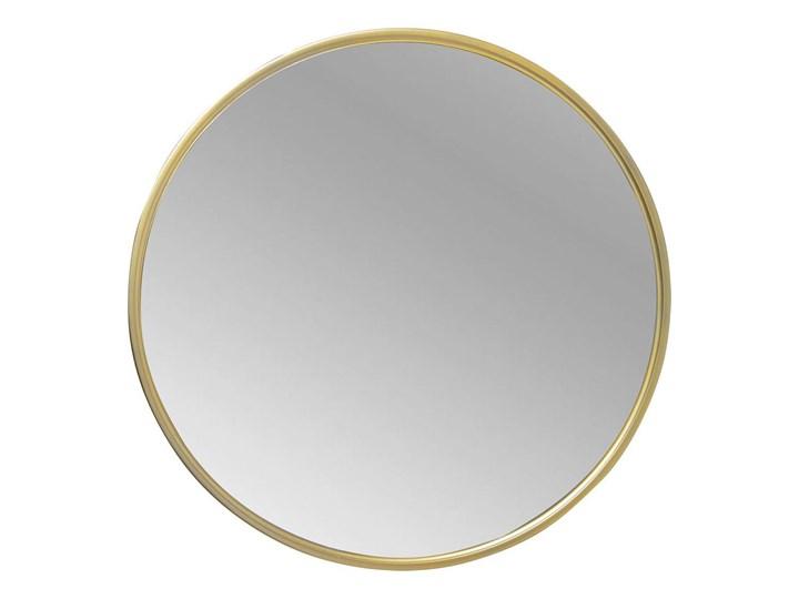 Lustro okrągłe w złotej metalowej ramie 80 cm Lustro z ramą Ścienne Pomieszczenie Sypialnia