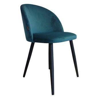Krzesło tapicerowane Colin z metalowymi nogami butelkowa zieleń