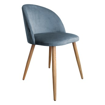 Krzesło tapicerowane Colin w kolorze szarym