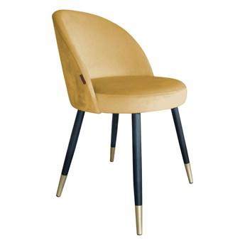 Krzesło Tapicerowane Trix w kolorze miodowym