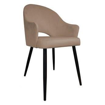 Krzesło Tapicerowane Velvet w kolorze beżowym