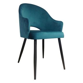 Krzesło Tapicerowane Velvet w kolorze morskim