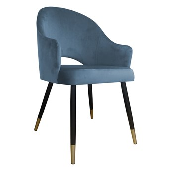 Krzesło Tapicerowane Velvet w kolorze szarym