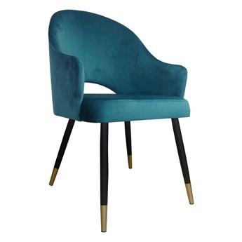 Krzesło Tapicerowane Velvet w kolorze turkusowym