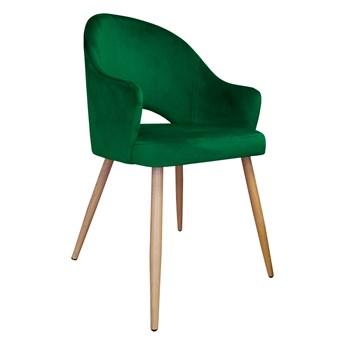Krzesło Tapicerowane Velvet w kolorze zielonym