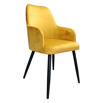 Krzesło Tapicerowane Westa w kolorze miodowym