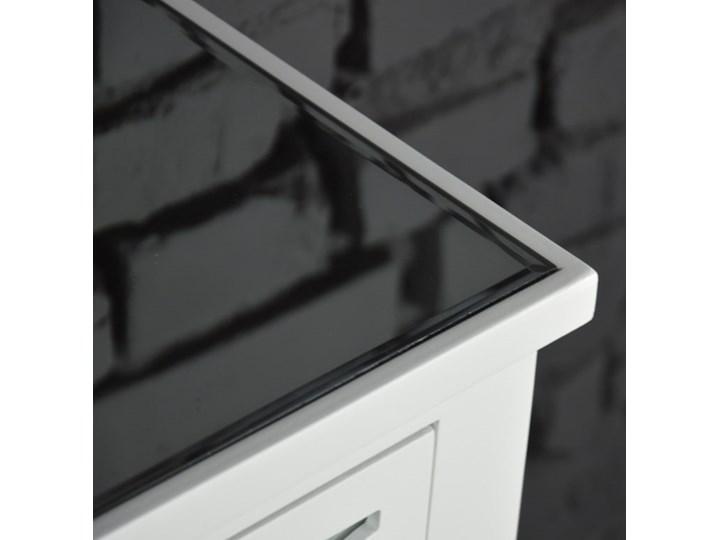 Komoda lustrzana glamour wzór marokański Wysokość 78 cm Szerokość 78 cm Głębokość 35 cm Z szufladami Płyta MDF Lustro Kolor Biały Pomieszczenie Sypialnia