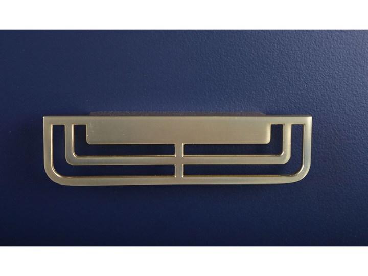 Szafka z dwoma szufladami ciemny niebieski 45x30x52cm Płyta laminowana Płyta MDF Uniwersalne Kolor Granatowy