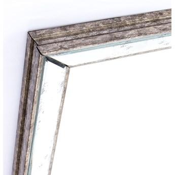 Lustro w drewnianej postarzanej ramie 80x65cm