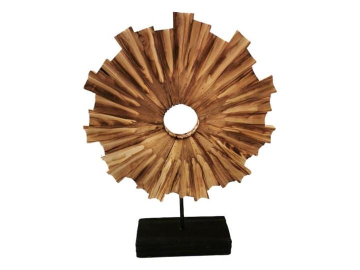 DEKORACJA DREWNIANA W STYLU HAMPTONS HELIOS 33 x 10 x 45 CM Rośliny Drewno Kategoria Figury i rzeźby