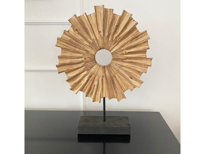 DEKORACJA DREWNIANA W STYLU HAMPTONS HELIOS 33 x 10 x 45 CM Drewno Kategoria Figury i rzeźby Rośliny Kolor Miedziany