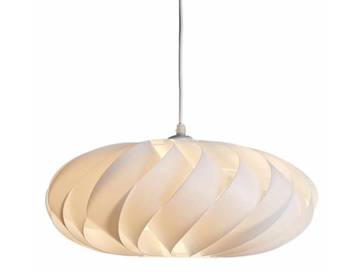 Jet wisząca biała Kolor Biały Lampa z kloszem Styl Nowoczesny
