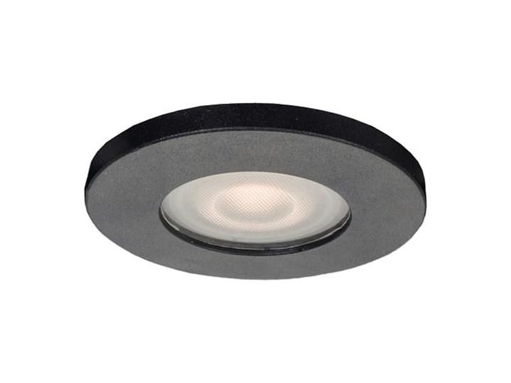 Lagos oczko podtynkowe okrągłe czarne IP65