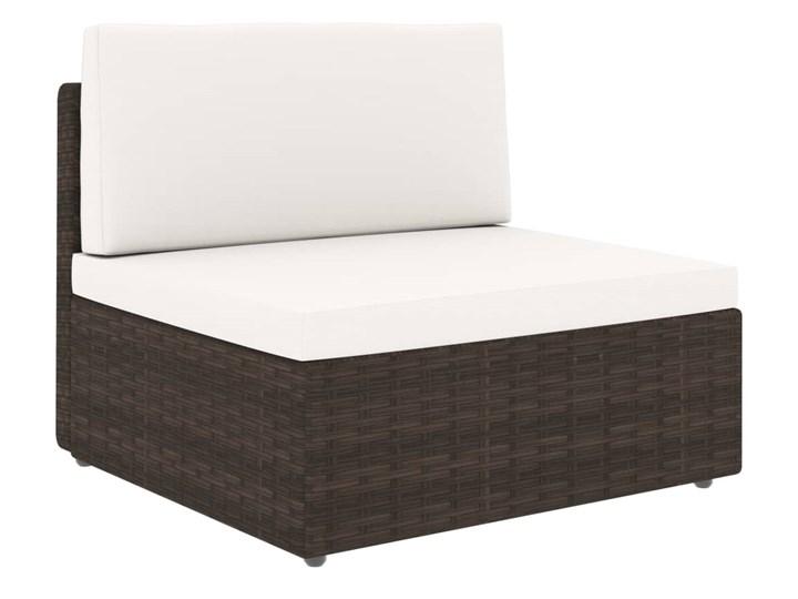 vidaXL 8-cz. ogrodowy zestaw wypoczynkowy, poduszki, rattan PE, brąz Stal Zestawy modułowe Zestawy kawowe Zestawy wypoczynkowe Zawartość zestawu Stolik