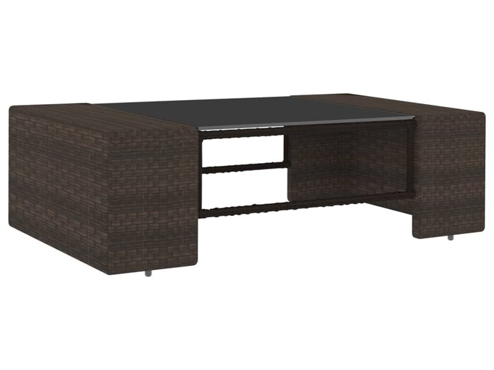 vidaXL 8-cz. ogrodowy zestaw wypoczynkowy, poduszki, rattan PE, brąz Zestawy kawowe Stal Zestawy wypoczynkowe Zestawy modułowe Zawartość zestawu Stolik