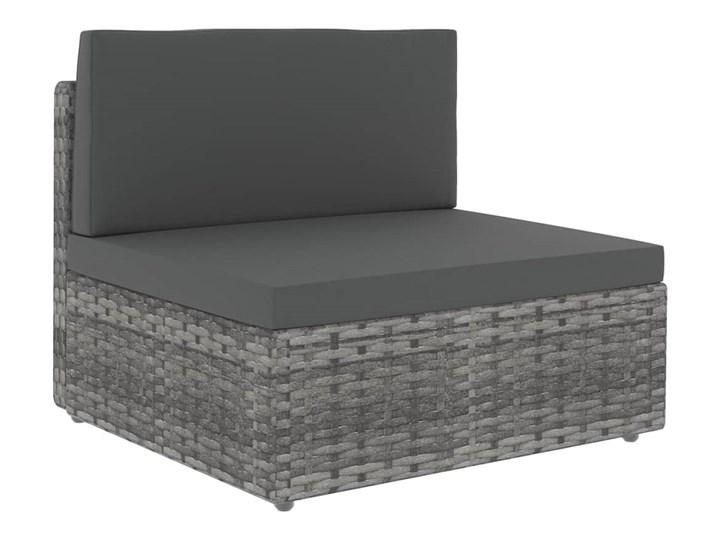 vidaXL 10-cz. ogrodowy zestaw wypoczynkowy, poduszki, szary rattan PE Zestawy modułowe Zestawy kawowe Stal Zestawy wypoczynkowe Zawartość zestawu Stolik