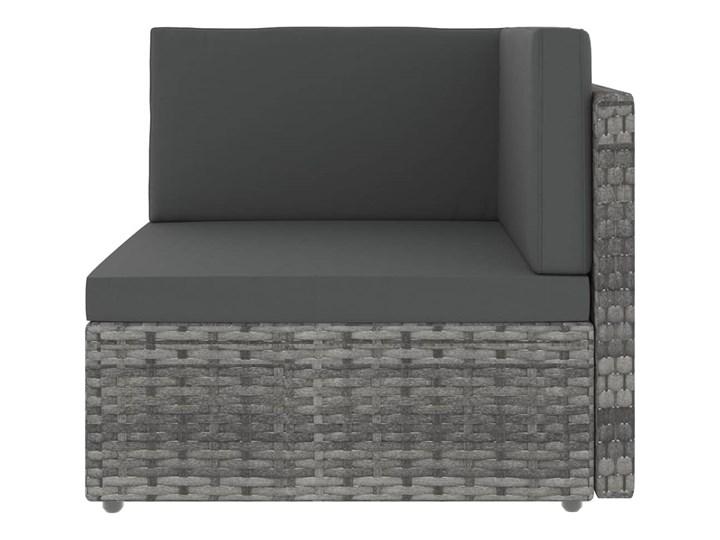 vidaXL 10-cz. ogrodowy zestaw wypoczynkowy, poduszki, szary rattan PE Zestawy kawowe Stal Zestawy modułowe Zestawy wypoczynkowe Zawartość zestawu Stolik
