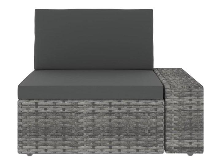 vidaXL 9-cz. ogrodowy zestaw wypoczynkowy, poduszki, szary rattan PE Zestawy kawowe Zestawy modułowe Stal Zestawy wypoczynkowe Zawartość zestawu Stolik Kategoria Zestawy mebli ogrodowych