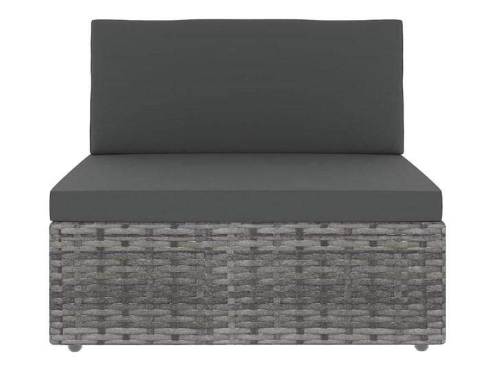 vidaXL 8-cz. ogrodowy zestaw wypoczynkowy, poduszki, szary rattan PE Stal Zestawy wypoczynkowe Zestawy kawowe Zestawy modułowe Zawartość zestawu Stolik