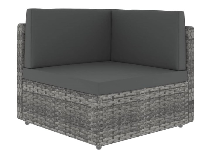 vidaXL 8-cz. ogrodowy zestaw wypoczynkowy, poduszki, szary rattan PE Zestawy kawowe Zestawy modułowe Zestawy wypoczynkowe Zawartość zestawu Stolik Stal Kategoria Zestawy mebli ogrodowych
