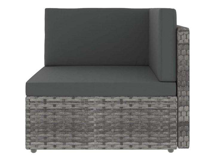 vidaXL 8-cz. ogrodowy zestaw wypoczynkowy, poduszki, szary rattan PE Stal Zestawy kawowe Zestawy modułowe Zestawy wypoczynkowe Zawartość zestawu Stolik Kategoria Zestawy mebli ogrodowych