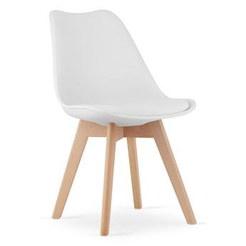 Krzesła skandynawskie białe z poduszką 53E-7 | 4 sztuki