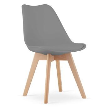Krzesła skandynawskie szare z poduszką 53E-7 | 4 sztuki