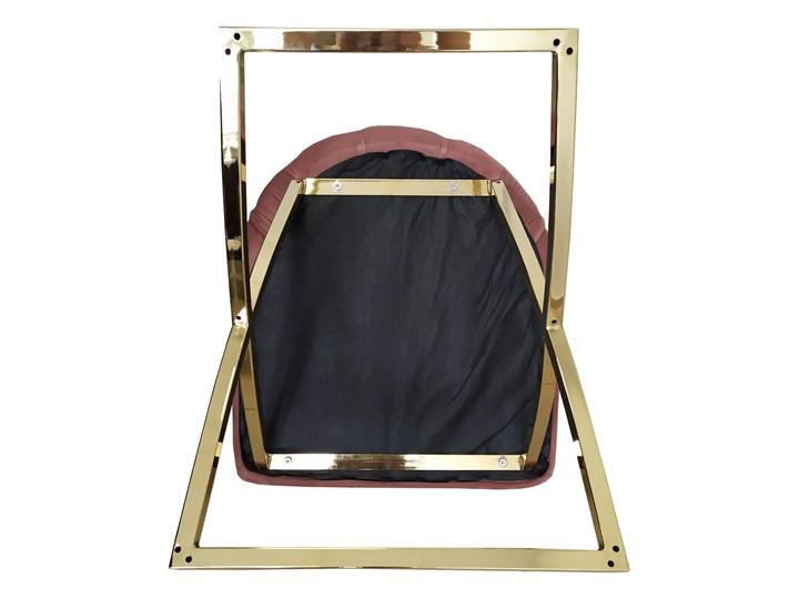 Krzesło tapicerowane Glamour  Y-2009G beżowy welur / złote nogi Pikowane Metal Tworzywo sztuczne Tkanina Pomieszczenie Jadalnia
