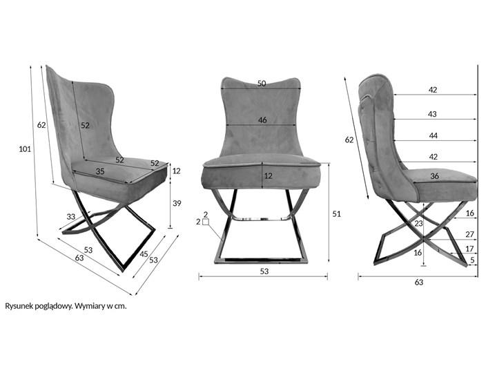 Krzesło tapicerowane Glamour  Y-2009G beżowy welur / złote nogi Pikowane Tworzywo sztuczne Tkanina Metal Pomieszczenie Jadalnia