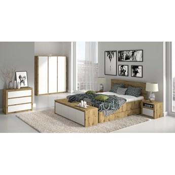 Sypialnia MALTA : Wybierz kolor - Dąb Artisan + Biały