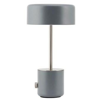 Nowoczesna bezprzewodowa lampka stołowa nocna Bring LED w kolorze szarym HOUSE DOCTOR